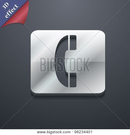 Handset Icon Symbol. 3D Style. Trendy, Modern Design With Space For Your Text Vector