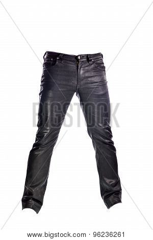 Black Jeans Trousers On White Background