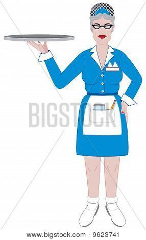 Old Retro Waitress