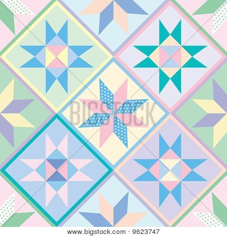 Seamless Patchwork Quilt Pattern Background