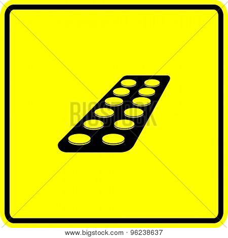 medicine tablets blister pack symbol