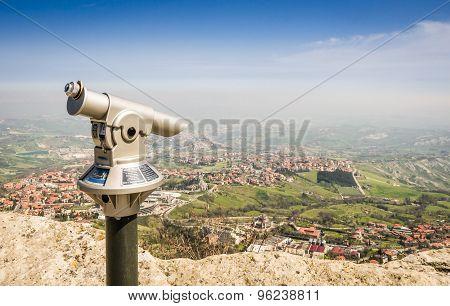 Rimini View From San Marino Fortress - Adriatic Coast, Italy