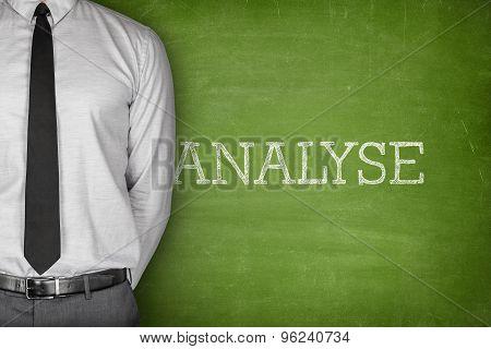 Analyse text on blackboard