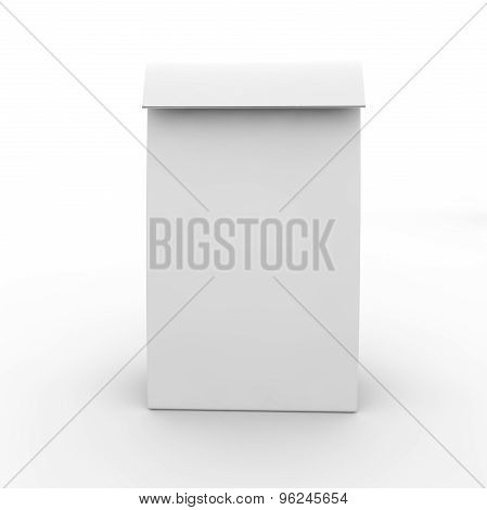 Blank White Package For Food