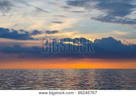 Seascape of Similand during sunset lowkey background