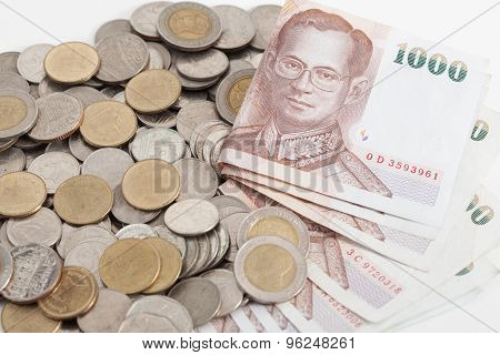 Thailand Banknotes And Coins