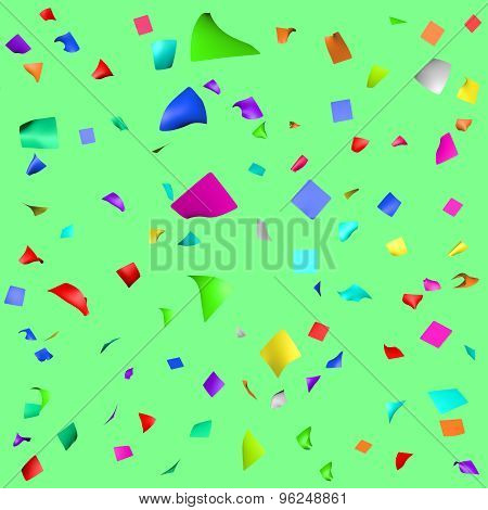 Colored Paper In Flight