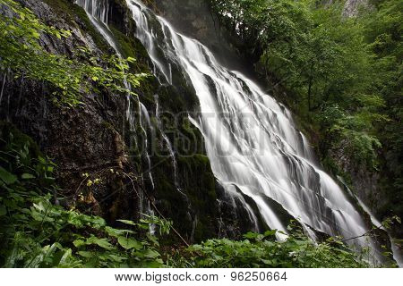 Beautifull waterfall, scenery from pristine forest