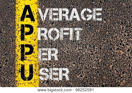 Business Acronym Appu As Average Profit Per User