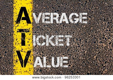 Business Acronym Atv As Average Ticket Value
