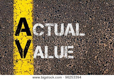 Business Acronym Av As Actual Value