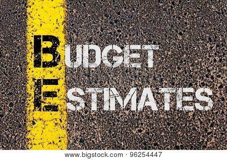Business Acronym Be As Budget Estimates