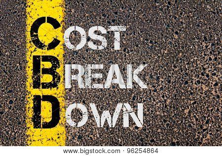Business Acronym Cbd As Cost Break Down