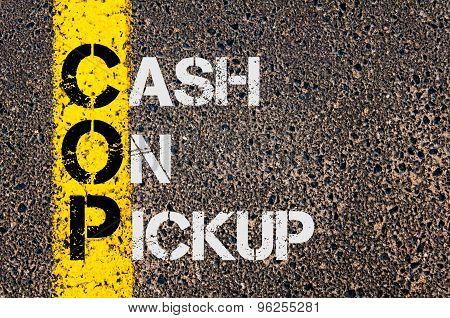 Business Acronym Cop As Cash On Pickup