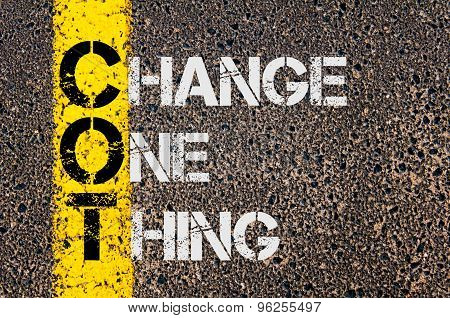 Business Acronym Cot As Change One Thing