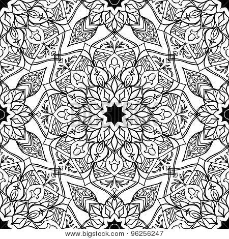 Stylized Floral Oriental Pattern.