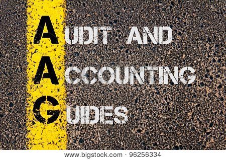 Business Acronym Aag  As Audit And Accounting Guides