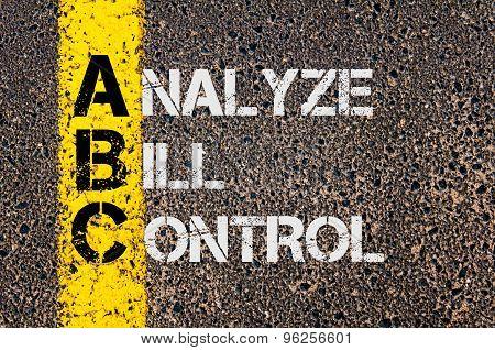 Business Acronym Abc As Analyze Bill Control