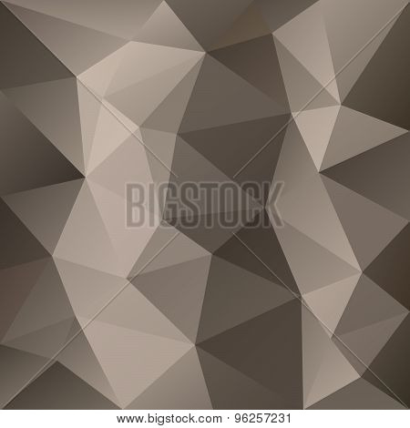 Vector Polygonal Background Triangular Design In Brown Colors