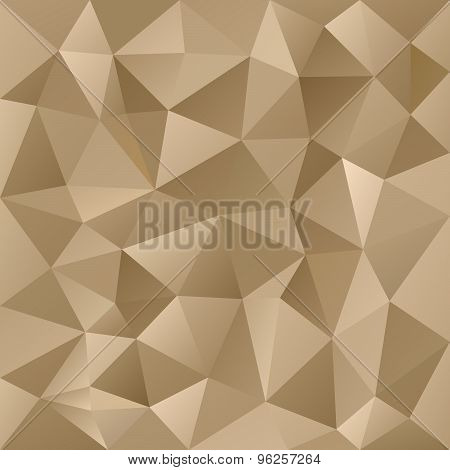 Vector Polygonal Background Triangular Design Gold Metal Colo