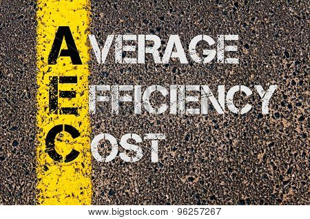 Business Acronym Aec As Average Efficiency Cost