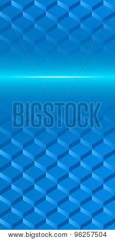 Steps Mosaic Squares Page Brochure Blue Background