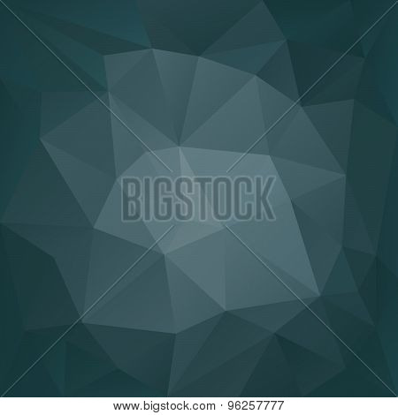 Vector Polygonal Background Triangular Design In Dark Petrol