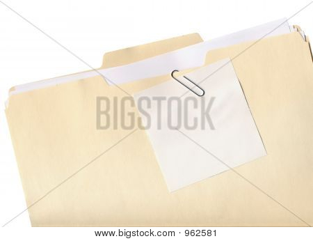 Folder And Note Isolated
