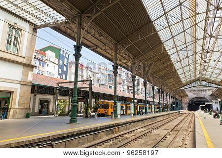 Sao Bento Railway Station In Porto City, Portugal