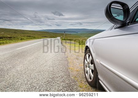Car By Country Road