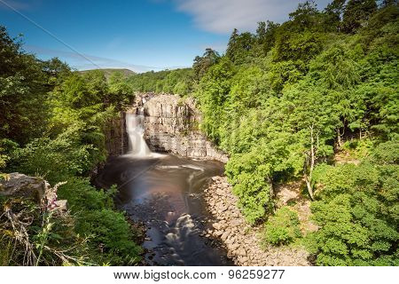Long Exposure Of High Force Waterfall