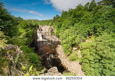 High Force Waterfall In Summer