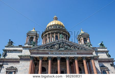 Fragment Of Saint Isaac's Cathedral