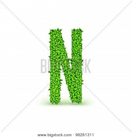Green Leaves font N.