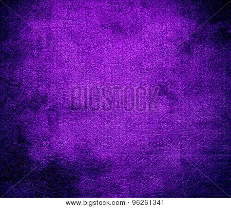 Grunge background of dark violet leather texture