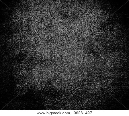 Grunge background of Davy grey leather texture