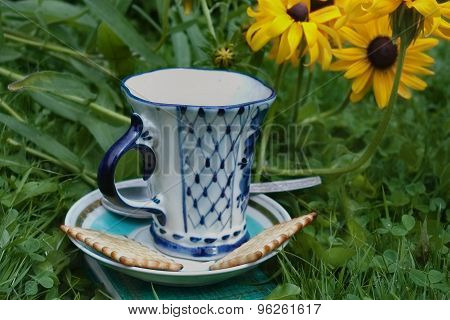 Breakfast In A Garden