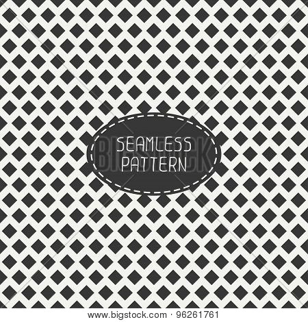 Geometric monochrome hipster seamless pattern with rhombus, square. Wrapping paper. Scrapbook paper.