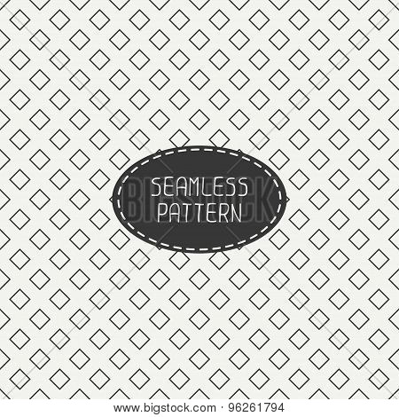 Geometric monochrome hipster line seamless pattern with rhombus, square. Wrapping paper. Scrapbook p