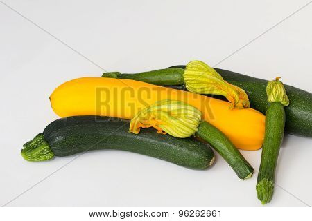 An Assortment Of Courgettes