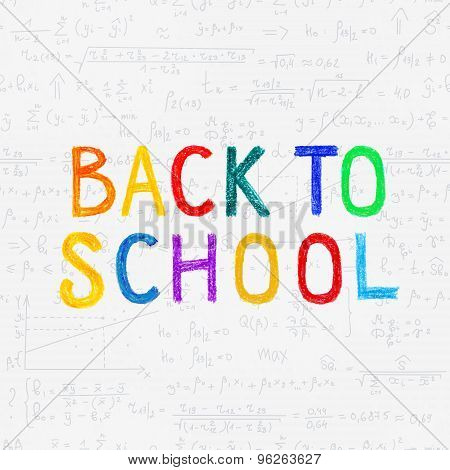 School seamless vector doodle pattern 'Back to school'.