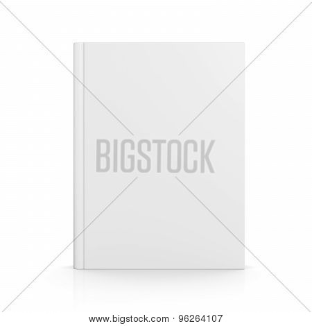Blank Book Cover Isolated On White
