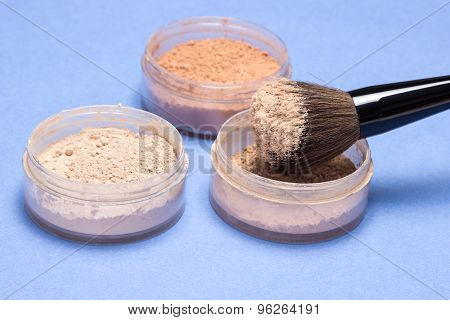 Different Shades Of Loose Cosmetic Powder