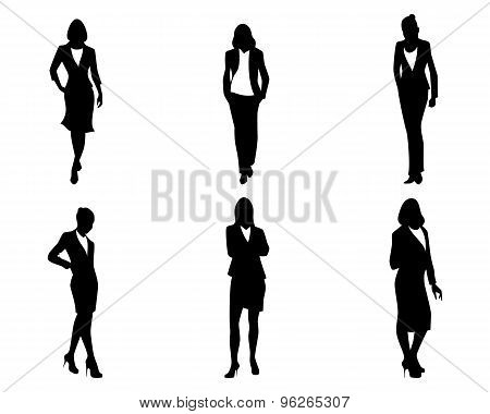 Six Businesswomen Set