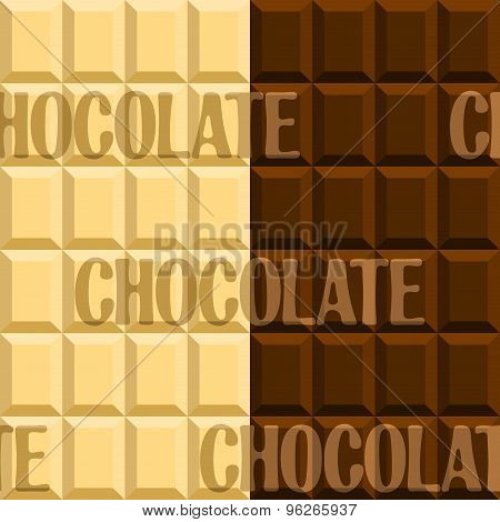 Image of black and white chocolate