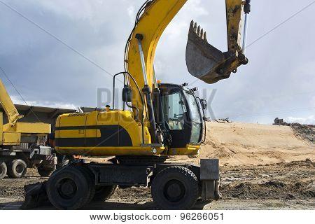 Excavator Yellow