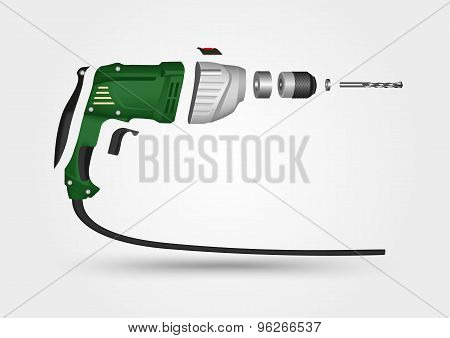 electric drill in details