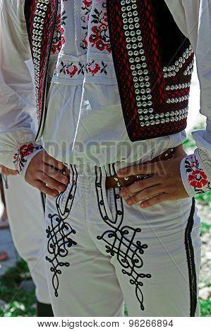 Detail Of Czech Folk Costume For Man
