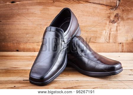 Classic black men's shoes