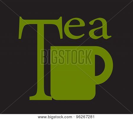 Vector Tea Cup On Green Background